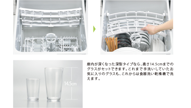 食器をセットしやすい「折りたたみサークルラック」[上カゴ]