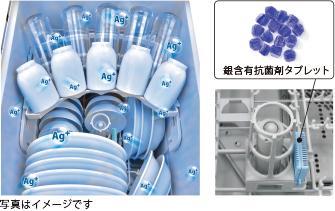 銀イオンの除菌効果で清潔長続きの「銀イオンカートリッジ」
