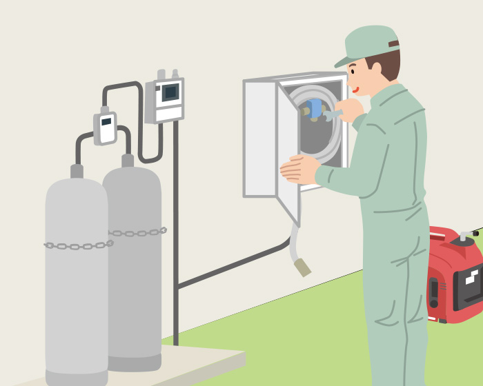 燃料はご家庭のプロパンガス