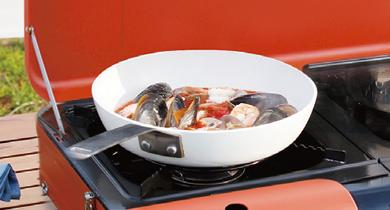 ごとくこんろ調理 プレートを外してごとくで調理